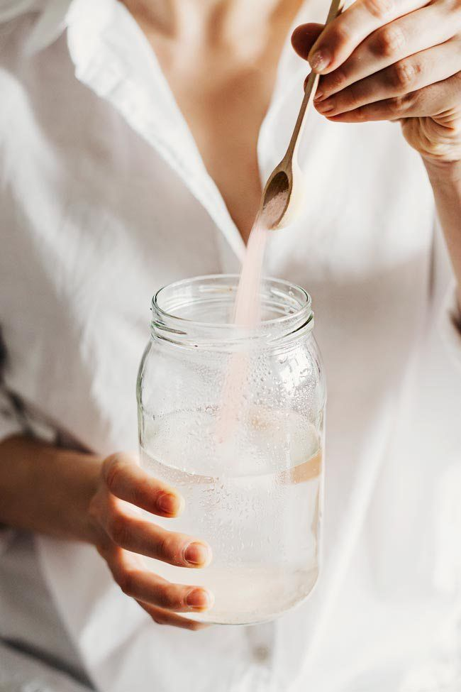 Homemade Electrolyte Drink with Pink Sea Salt