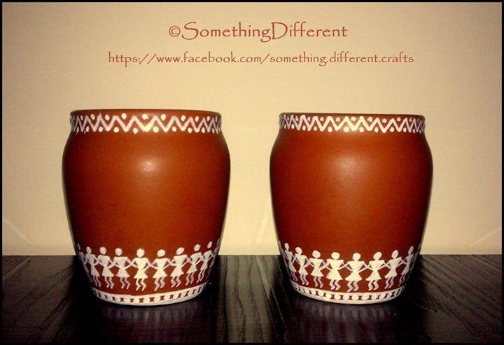 Hand painted worli pots
