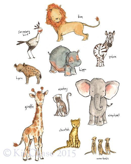 Start your young explorer early with this collection of baby's favorite safari friends.art print from an original watercolor, gouache, and acrylic painting by Kit Chase.archival matte paper and inkvertical printships worldwide from the U.S.watermark will not appear on purchased print.This image is protected by copyright and is the property of Kit Chase and LullaLoo, LLC. Any reproduction, reselling, or distribution of this image without written consent is prohibited.