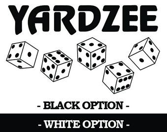 Yardzee Decal 2 Colors 3 Sizes Available Fast