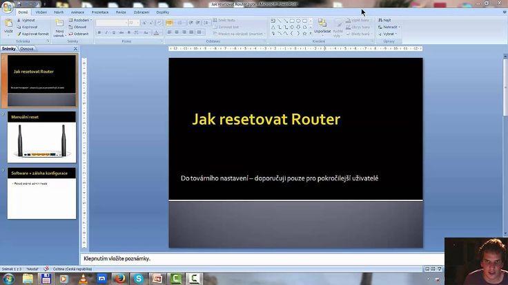 2 tipy Jak resetovat router do tovarního nastavení + zaloha