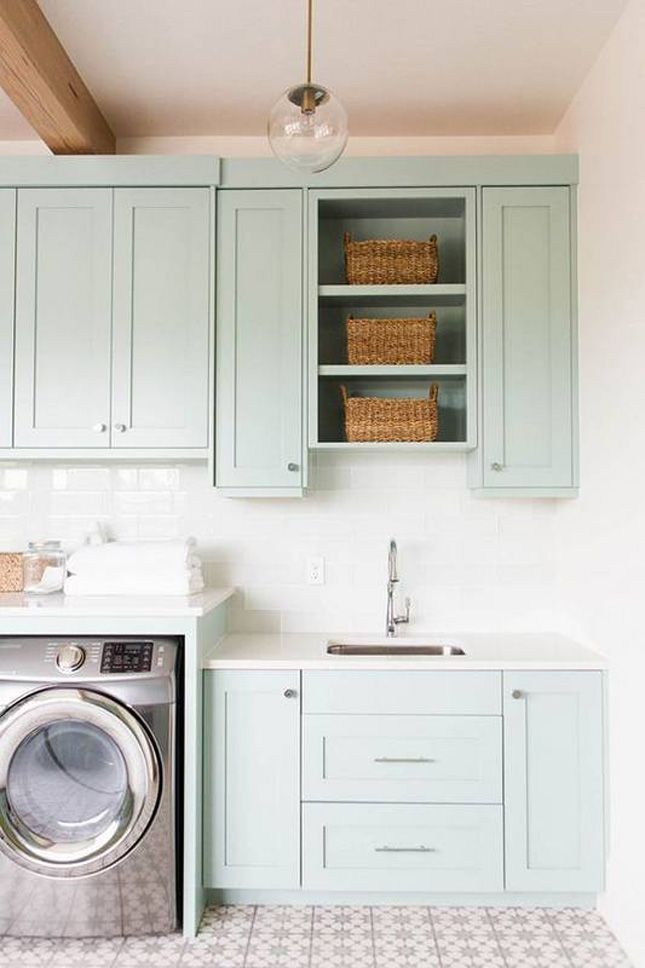 7 Beautiful Utility Rooms We Love Blue Laundry Rooms Laundry