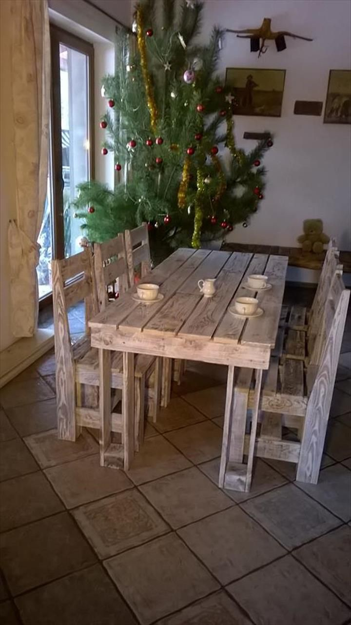 pallet dining set