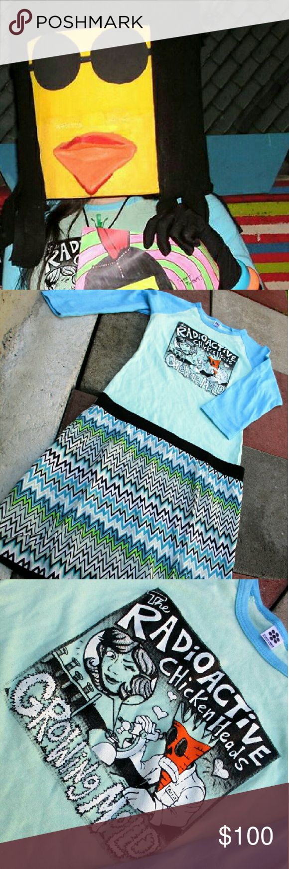 "Rockin Robin's Rare Outfit  Top & Skirt Rare outfit worn for my performance with the Radioactive Chicken Head's ""Church Of Fun"" show. Rare Top! Accessories not included. Fits size Medium. Pre-owned. Other"