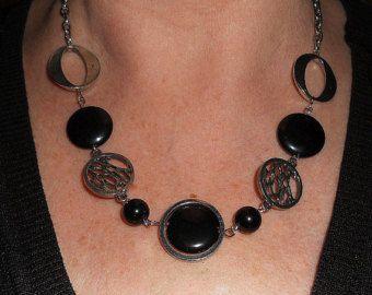 Declaración collar collar de plata boho por BohoChicGypsyJewelry