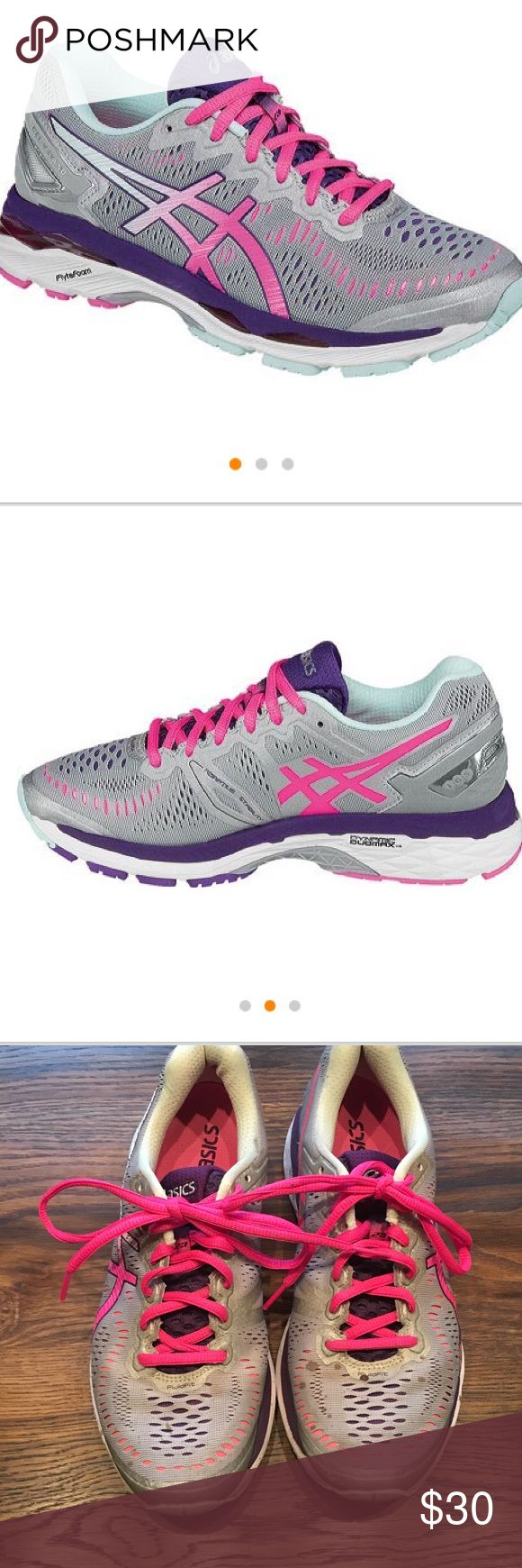 SALE! Women's ASICS Gel Kayano 8 Just purchased last year. Did get a couple of small paint drops on them. Asics Shoes Sneakers