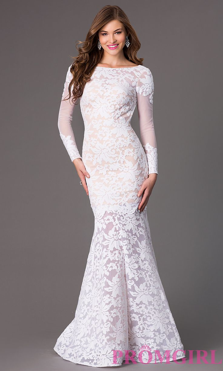 Image of Open Back Lace Mermaid Gown by Xtreme Style: XT-32550 Front Image