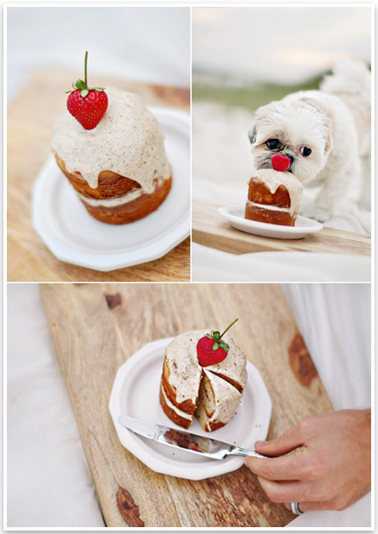 Doggie Birthday Cake by Chic Sprinkles | Pretty Fluffy