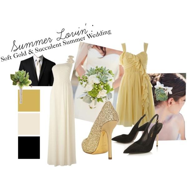 Soft Gold & Succulent Summer Wedding