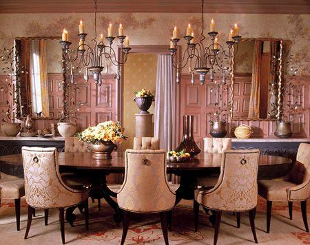 Cool Designer Alert Barry Dixon Pink Dining RoomsDining