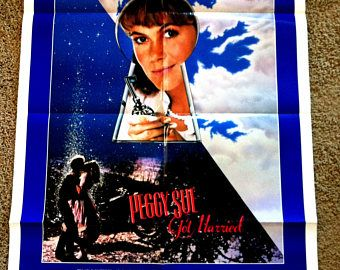 "1986 Peggy Sue Got Married Original Movie Poster - 27x39"" Intl One Sheet 1sh Australia - Kathleen Turner Nicolas Cage Francis Ford Coppola"