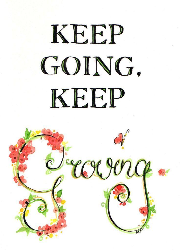 Makeforgood Ink Illustration 'Kepp Going, Keep Growing' Building Brighter…
