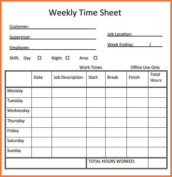 Printable Weekly Time Sheets Check More At Https Nationalgriefawarenessday Com 36644 Printable Weekly Time Sheet Printable Free Printables Timesheet Template