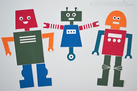 Build Your Own Robot! A free printable set of robot parts for playing and creating!