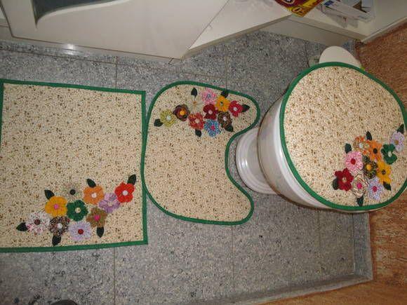 Jogo de Tapetes Banheiro | JANE BUHL PATCHWORK | Elo7