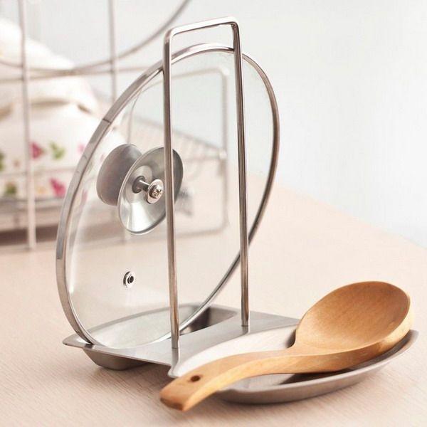 Хранение в кухне крышек для сковородок и кастрюль - полный обзор всех способов, 50 фото практичных идей. Выберите удобное место, где будут храниться ваши крышки.
