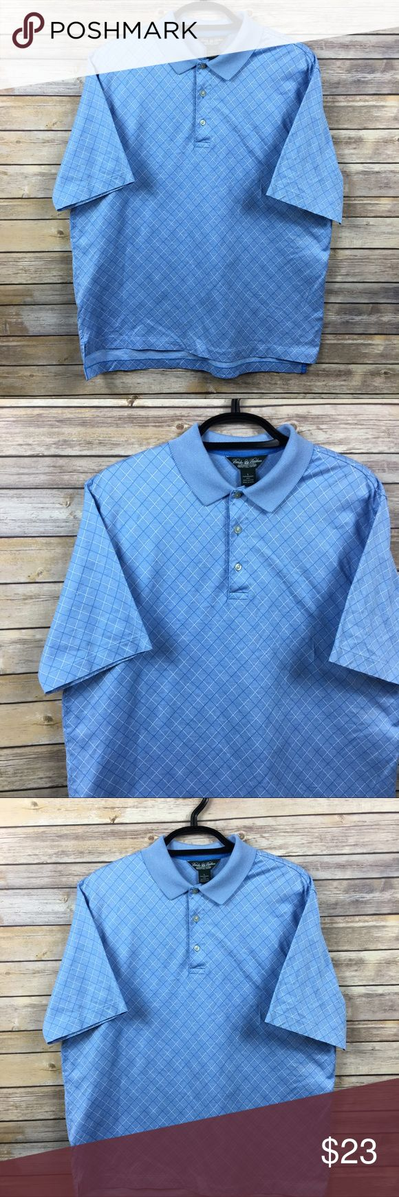 Brooks Brothers Country Club Performance Golf Polo Brooks Brothers Country Club  Performance Knit Golf Polo Shirt Blue 100% Cotton  Size L Armpit to armpit 23 in Armpit to end of sleeve 5.5 in Shoulder to back hem 30 in Thanks for visiting! Brooks Brothers Shirts Polos