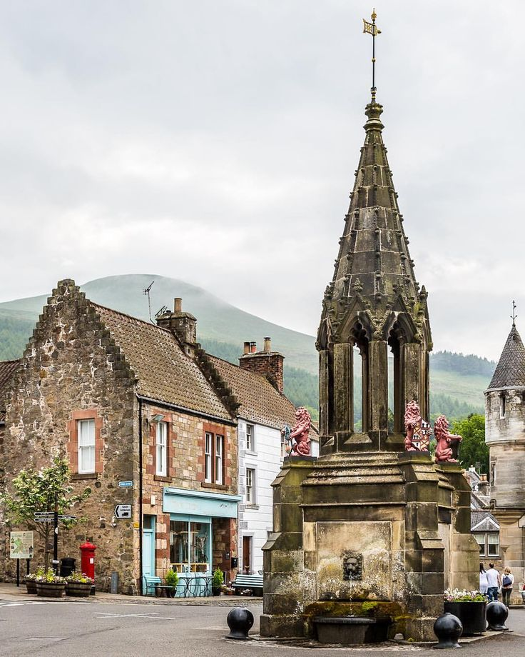 Pretty village of Falkland in Fife, Scotland