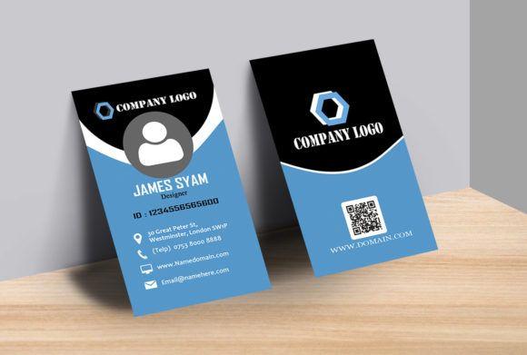 Vertical Business Card Dengan Gambar