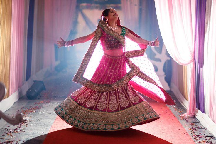Indian bride with fab chaniyacholi....