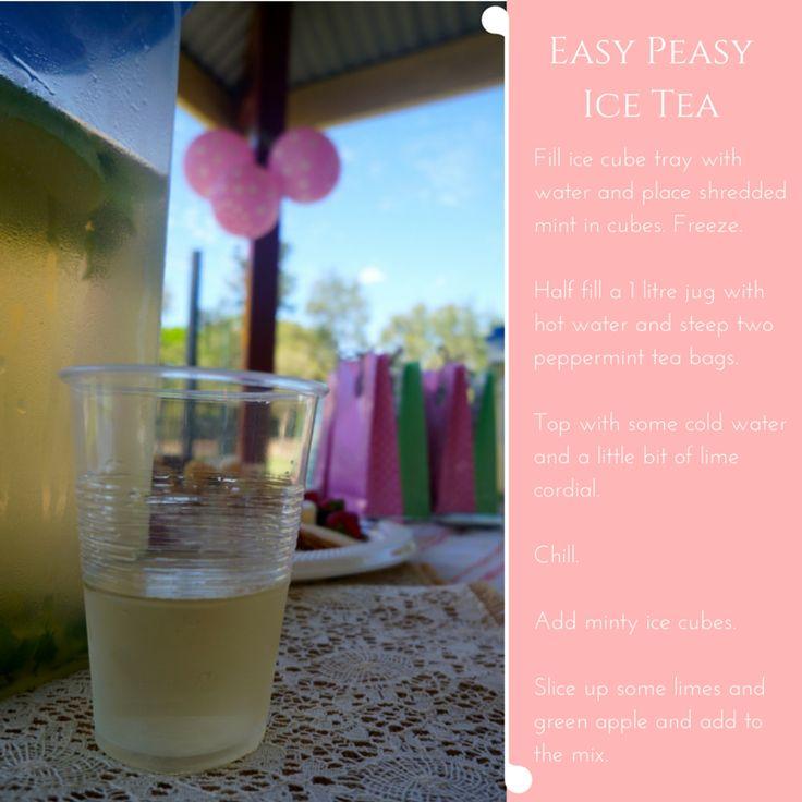 Easy Peasy Ice Tea Recipe