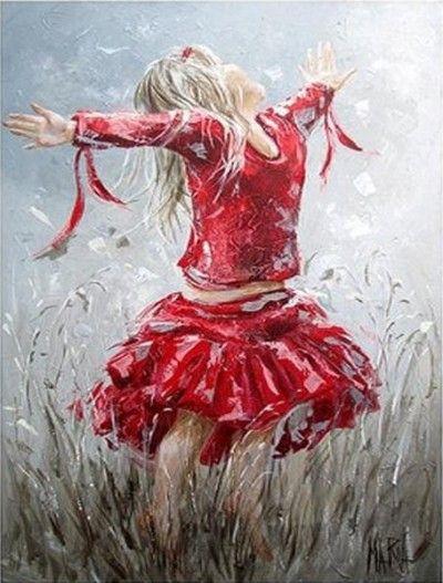 Маленькая принцесса. Картины художника Maria Oosthuizen