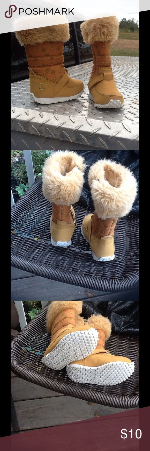 Baby Girl Timberland So stinking cute!! Girls T5 Timberland,zips up the side, good cond. Timberland Shoes Boots