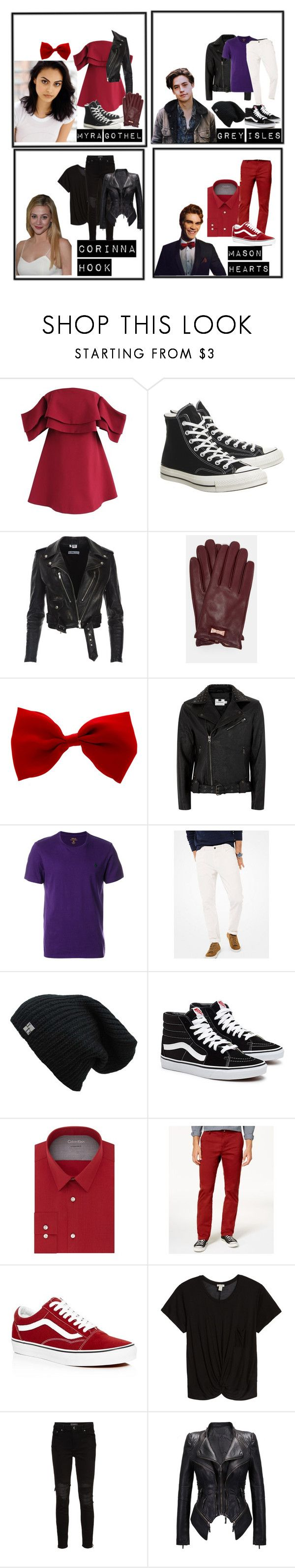 """""""Descendants"""" by mrsmendes2 on Polyvore featuring Chicwish, Converse, Ted Baker, Topman, Polo Ralph Lauren, Michael Kors, Calvin Klein, Volcom, Vans and Hinge"""