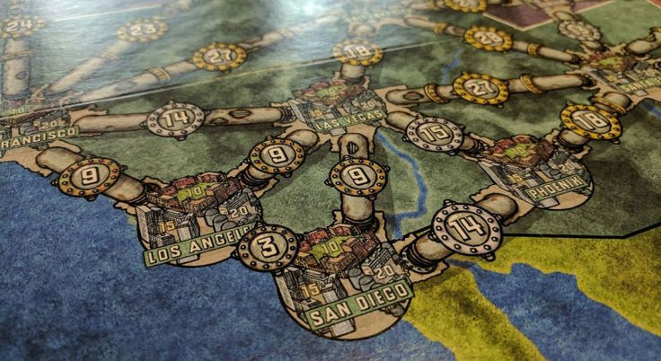 I got around to playing the classic German board game Power Grid (aka Funkenschlag) on the weekend, and absolutely loved it.