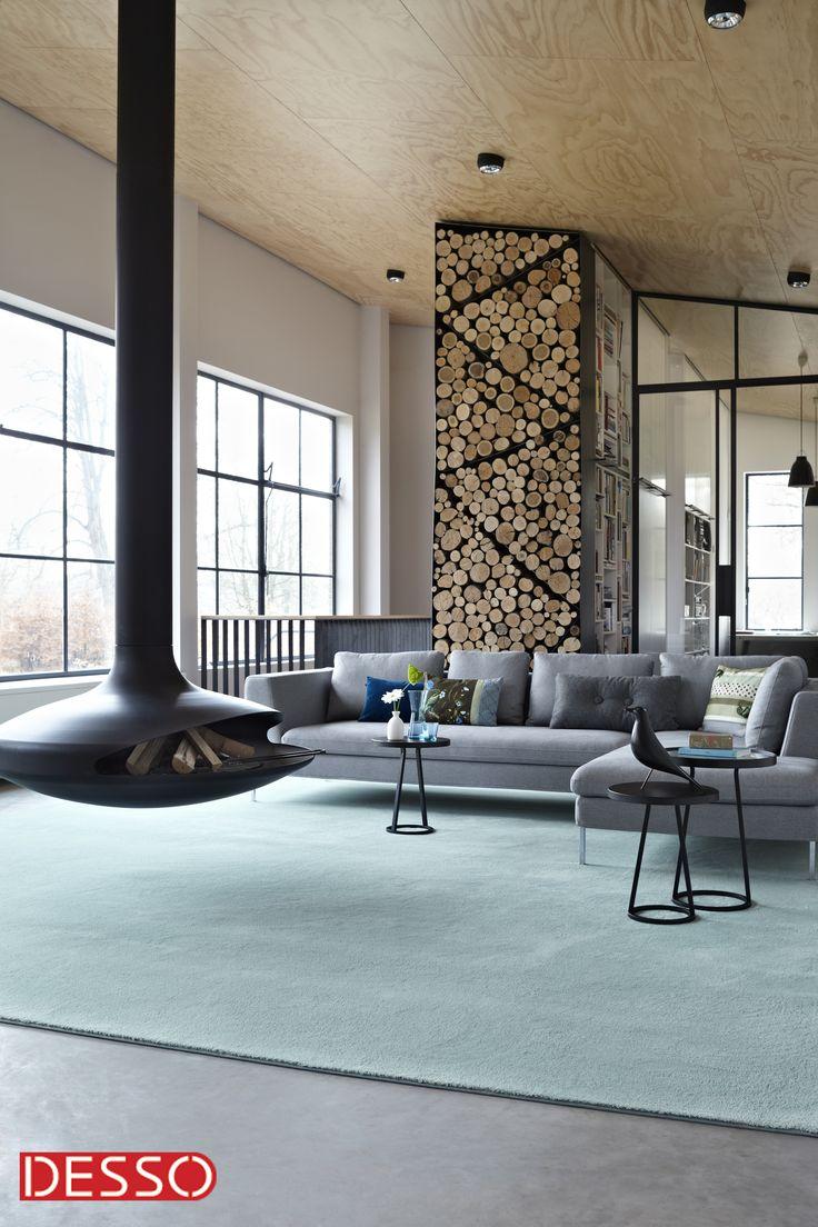 Van een helderblauw vloerkleed knapt de sfeer in je kamer onmiddellijk op.