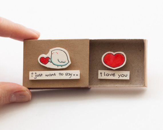 "Cute Birdy Love Card/ Bird Love Card/ Anniversary Gift Boyfriend/ Unique Love gift/ Romantic Anniversary Gift/ ""I love you""/ LV042"