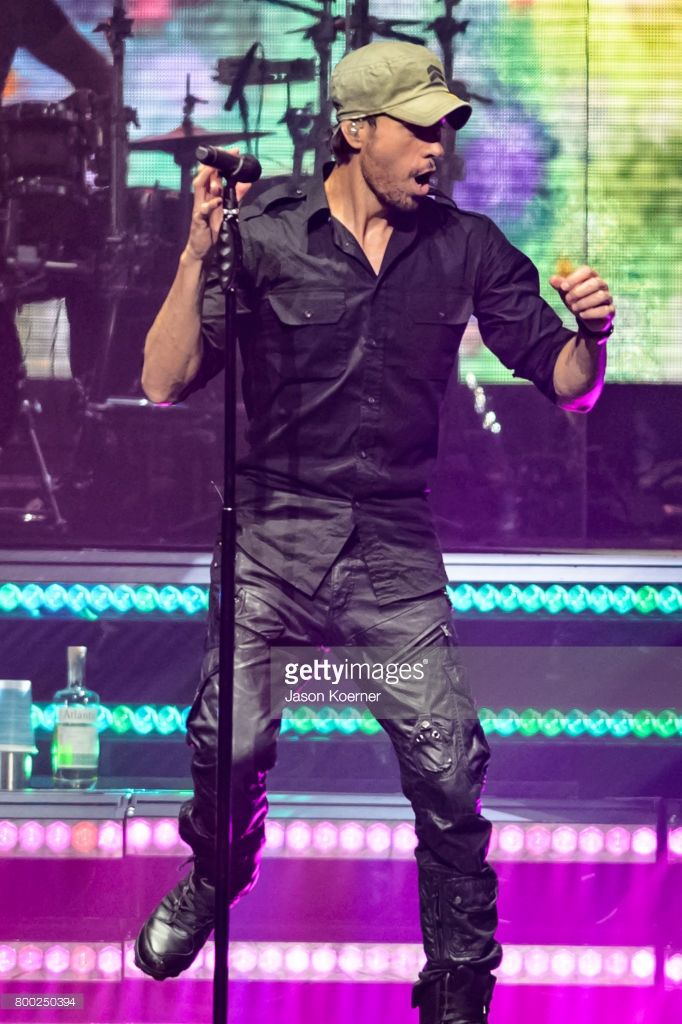 Enrique Iglesias performs on stage at American Airlines Arena on June 23, 2017 in Miami, Florida.
