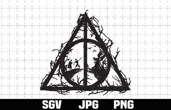 Deathly Hallows Svg Png Reliquias De La Muerte Svg Always Svg Gift Birthday Digital Download Sublimation Png In 2021 Svg Png Cricut