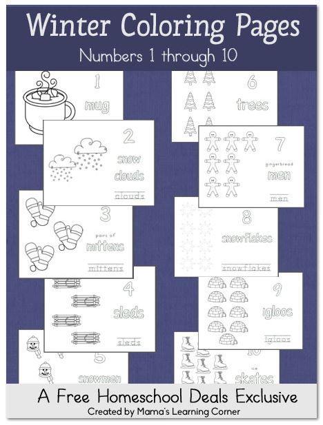 276 best Free Homeschool Preschool images on Pinterest Preschool - new coloring pages numbers 1