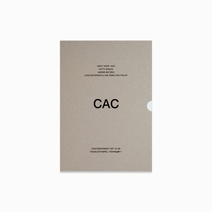 CAC by Andy Hope 1930, Kitty Kraus, André Butzer, Lucy McKenzie, Ian Hamilton Finlay