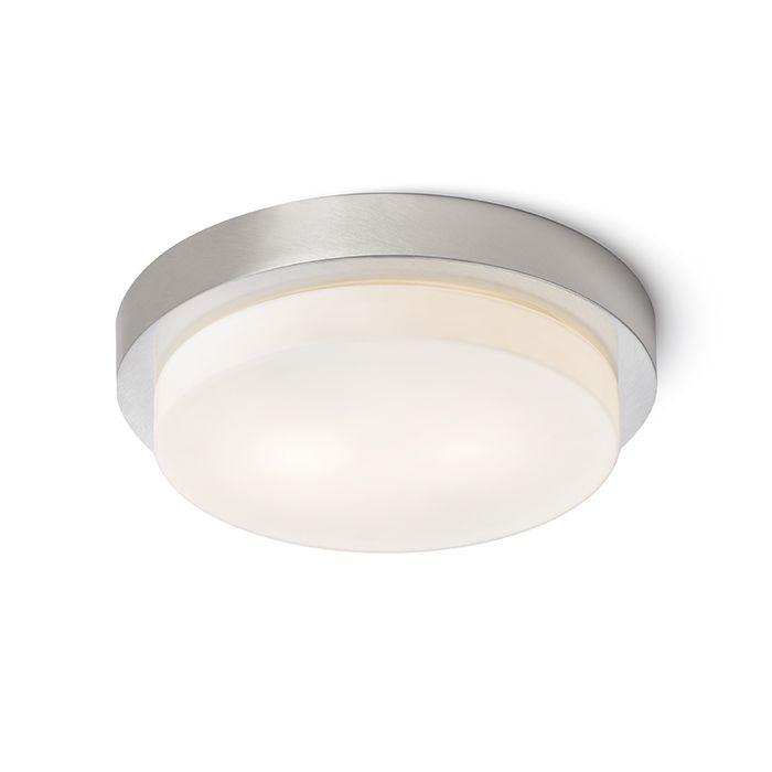 GORRA - Stropné prisadené svietidlo vhodné do vlhkého prostredia. Tienidlo je z opálového skla o rozmeroch priemer/V 24/3 cm.