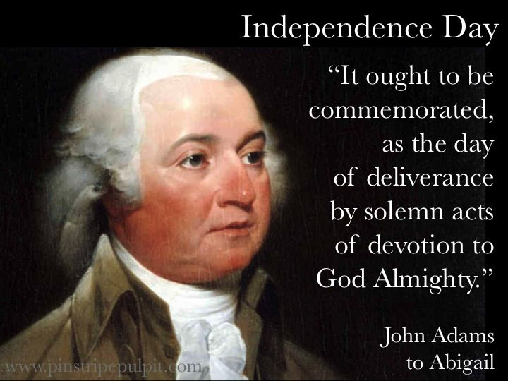 John Adams: Given the sacrifices required of all involved, his point is well taken.