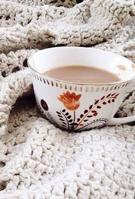 blanket. tea. yes.