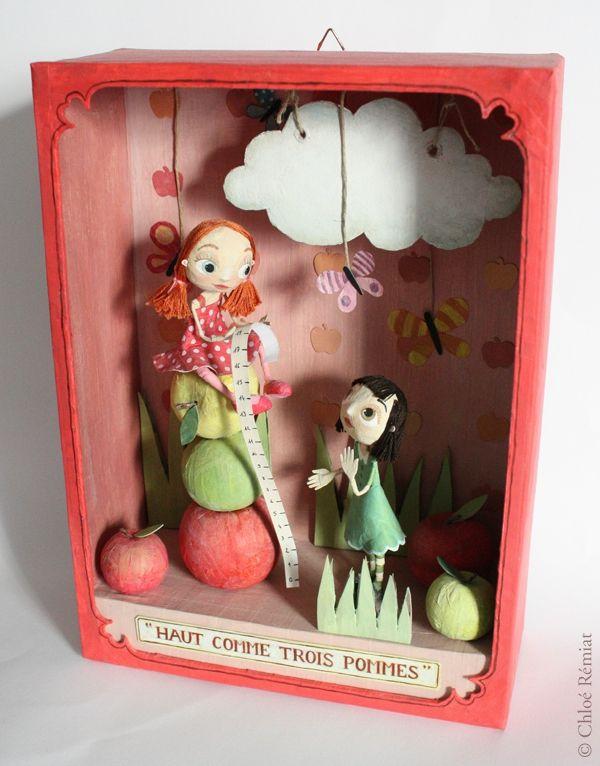 """""""Haut comme Trois Pommes"""" - Photo de BOITES ET CADRES DISPONIBLES * Available boxes and frames - Tibout de blog"""