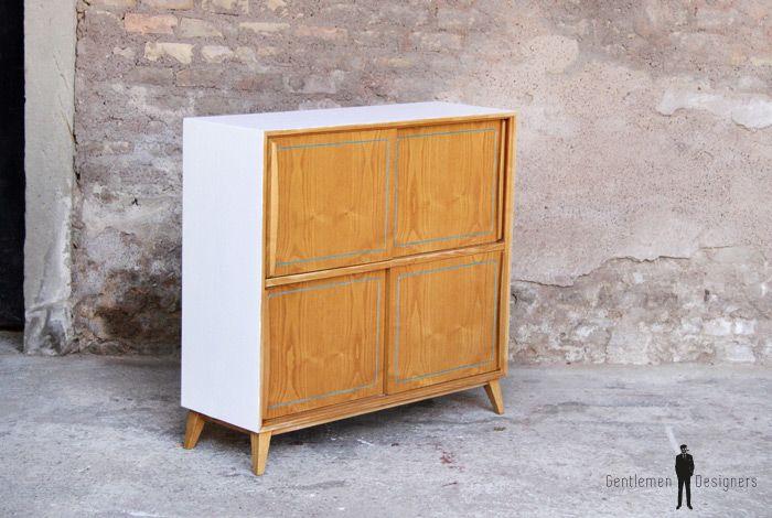 petit meuble de rangement vintage en