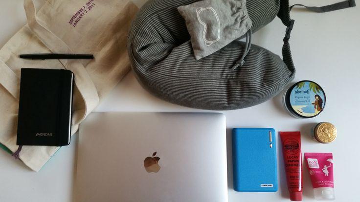 Tutto quello che mi serve avere a portata di mano #mybackpack #travel #needed