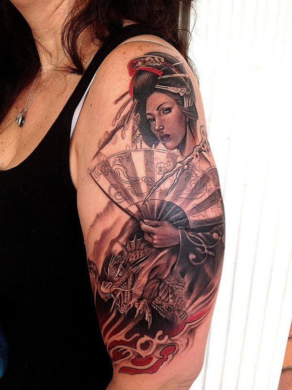 Geisha Tattoo - 50+ Beautiful Geisha Tattoos  <3 <3