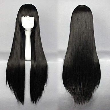 Sango Black Long Cosplay Wig – USD $ 31.99