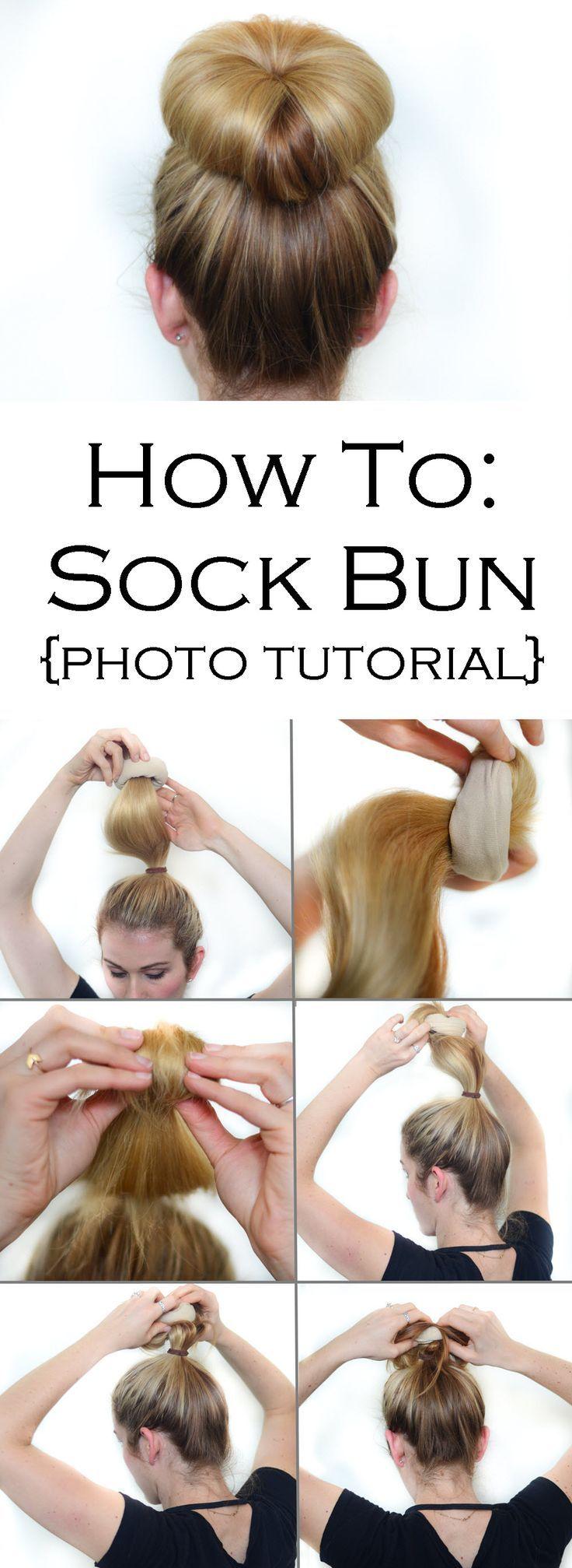 Sock Bun Photo Tutorial