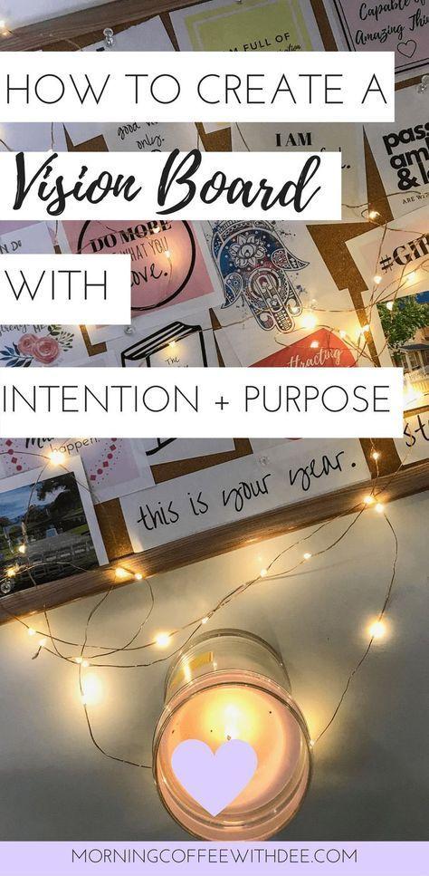 So erstellen Sie ein Vision Board mit Absicht & Zweck + KOSTENLOSES Arbeitsbuch