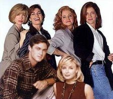 """""""Sisters"""" was a television drama for six seasons, from 1991 to 1996.   Swoosie Kurtz as Alex, Sela Ward as Teddy, Patricia Kalember as Georgie and Julianne Phillips as Frankie."""