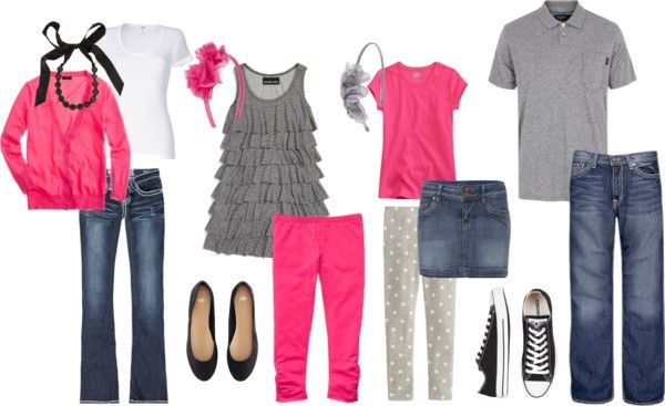 Ideas for family photo clothes... Change pink to canary yellow! @Dena Aksel Aksel Smith