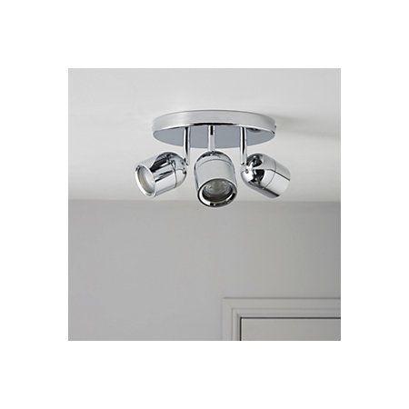 Genlis Chrome Effect 3 Lamp Bathroom Spotlight | Departments | DIY at B&Q