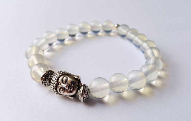 Unisex Genuine Opal Buddha Bracelet by Wild Lotus Jewellery