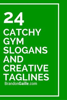 Best Catchy Gym Slogans and Creative Taglines
